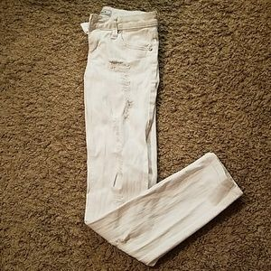Denim - White Distressed Jeans
